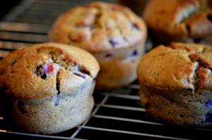 Brown Rice & Buckwheat Flour Muffins