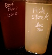 Homemade Beef & Fish Stock