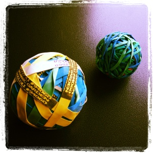 Big & Little Rubber band balls